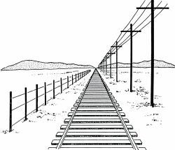 Perspectief spoorweg