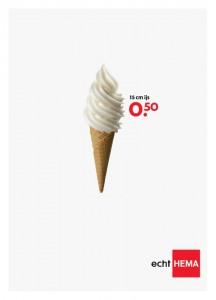 15 cm ijs Hema reclame